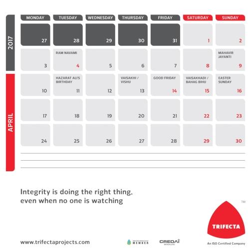2017 Calendar 09