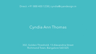Cyan Design Visiting Card 02