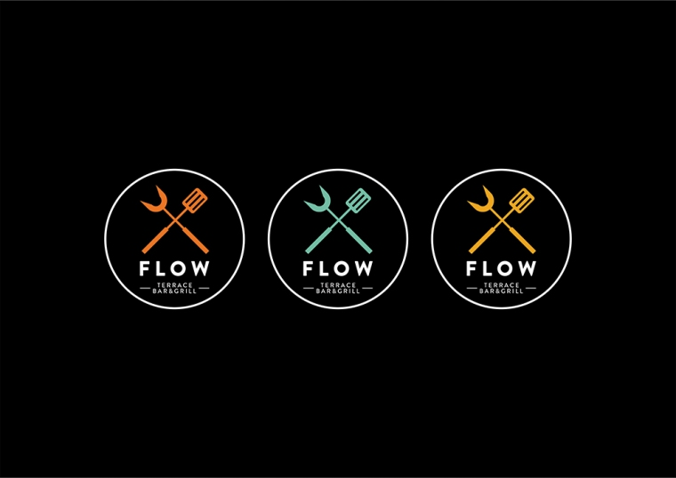 Flow Bar & Grill Logo Options - Final Negative