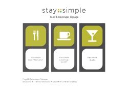Food & Beverages Signage