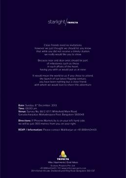 Invitation for Trifecta Starlight Launch Event