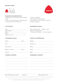 Joli Booking Form 01