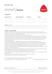 Starlight Booking Form 03