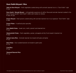 The Lounge Menu 25