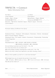 Trifecta Visitor Information Form