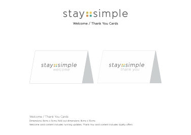 Welcome & Thank You Cards