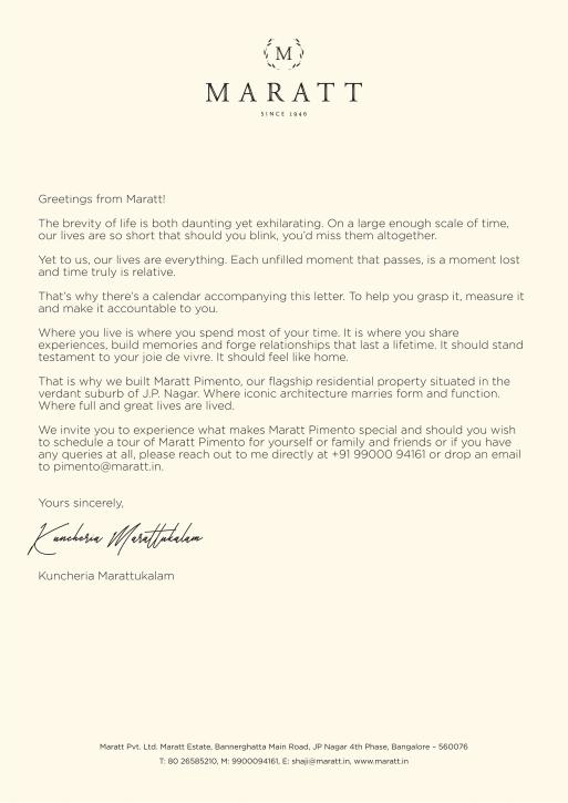 DM Covering Letter